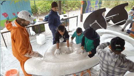 Участие детей и молодежи в проектах по оформлению района, в котором они живут